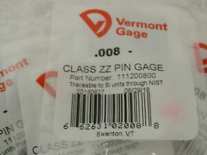 Vermont Gage 111203000 .030 MINUS CLASS ZZ PIN GAGE LOT OF 10