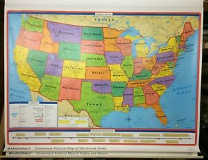 Details about Rand McNally World, United States Alaska & Hawaii Pull Down  Classroom 3 Maps