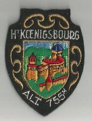 ECUSSON A COUDRE HAUT KOENIGSBOURG 67 BAS RHIN ALSACE 7.5X5.5 CM MODELE B