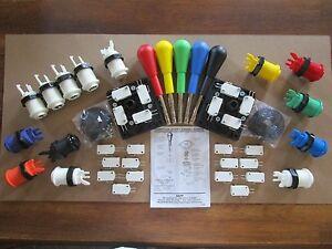 HAPP-Arcade-Control-Panel-Kit-your-choice-of-HAPP-14-Push-Buttons-amp-2-Joystick