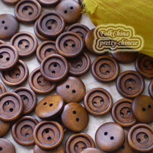 Small Brown 2 Holes Wood Buttons Sewing Scrapbooking 15mm,20mm,25mm,28mm C036