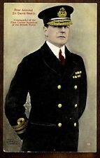 1915 Rear Admiral Sir David Beatty British Navy ~  WW1 Vintage Postcard