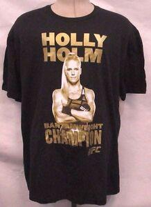 Holly-Holm-Men-M-Short-Sleeve-Bantamweight-Champion-T-Shirt-UFC-Reebok