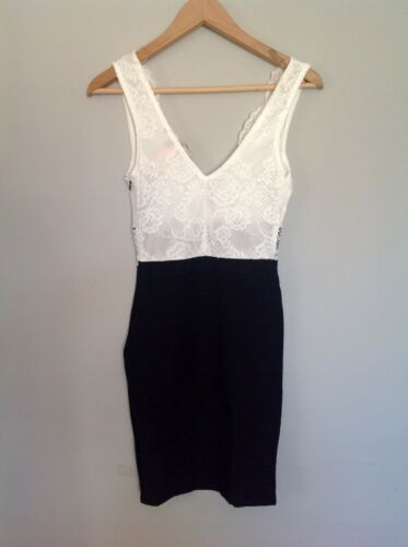 Lipsy  London Little Black Dress With Lace Size 6 RRP$129