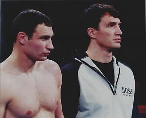 Details about VITALI KLITSCHKO & WLADIMIR 8X10 PHOTO BOXING PICTURE