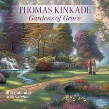 Thomas Kinkade Gardens of Grace with Scripture 2014 Wall Calendar