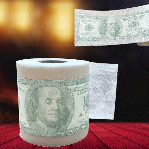 ⭐Dollar Bill Printed Toilet Paper America Dollars Tissue Novelty $100 Gag US
