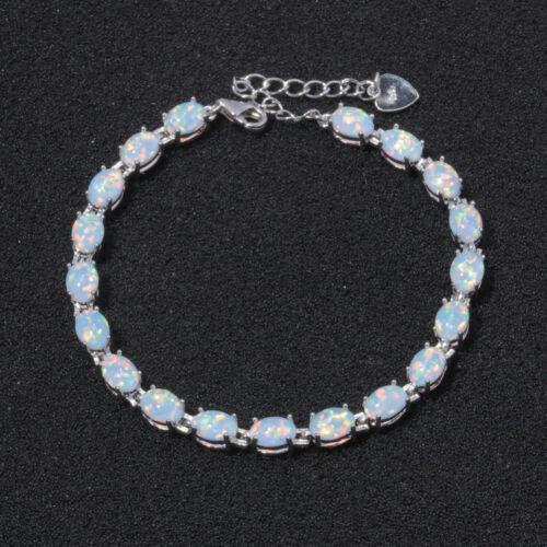 NEU effektvoller und eleganter 925 Silber Armband weißer Feueropal