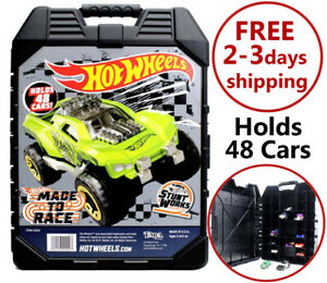 Car-Carrying-Case-48-Vehicles-for-Hot-Wheels-Matchbox-Organizer-Storage-Box-New