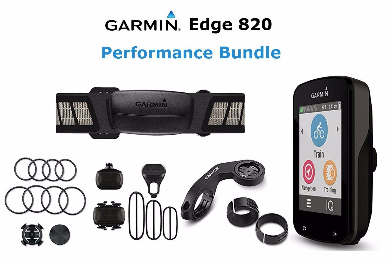 Garmin Edge 820 Performance Bundle GPS Reloj de Computadora Bicicleta de ciclismo nuevo ciclo HRM