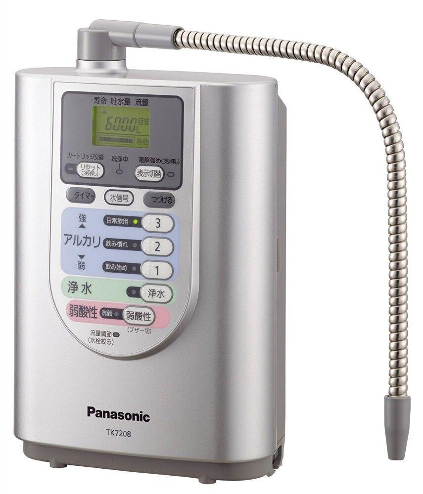 Panasonic Alkaline Purificateur d'eau Ioniseur TK7208P-S Cleaner TK7208PS Argent Nouveau