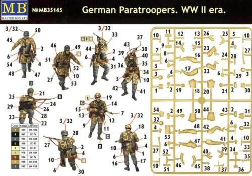Masterbox German Paratroopers Deutsche Fallschirmjäger Einsatz 1:35 Modell kit