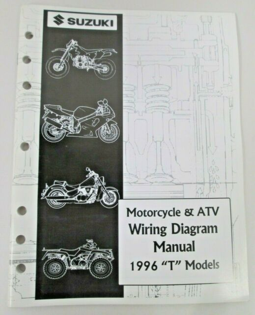 Suzuki Motorcycle  U0026 Atv Wiring Diagram Manual 1996 T