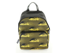 New Authentic Prada Tessuto St. Cars Geometric Backpack Black Nylon  - NWT