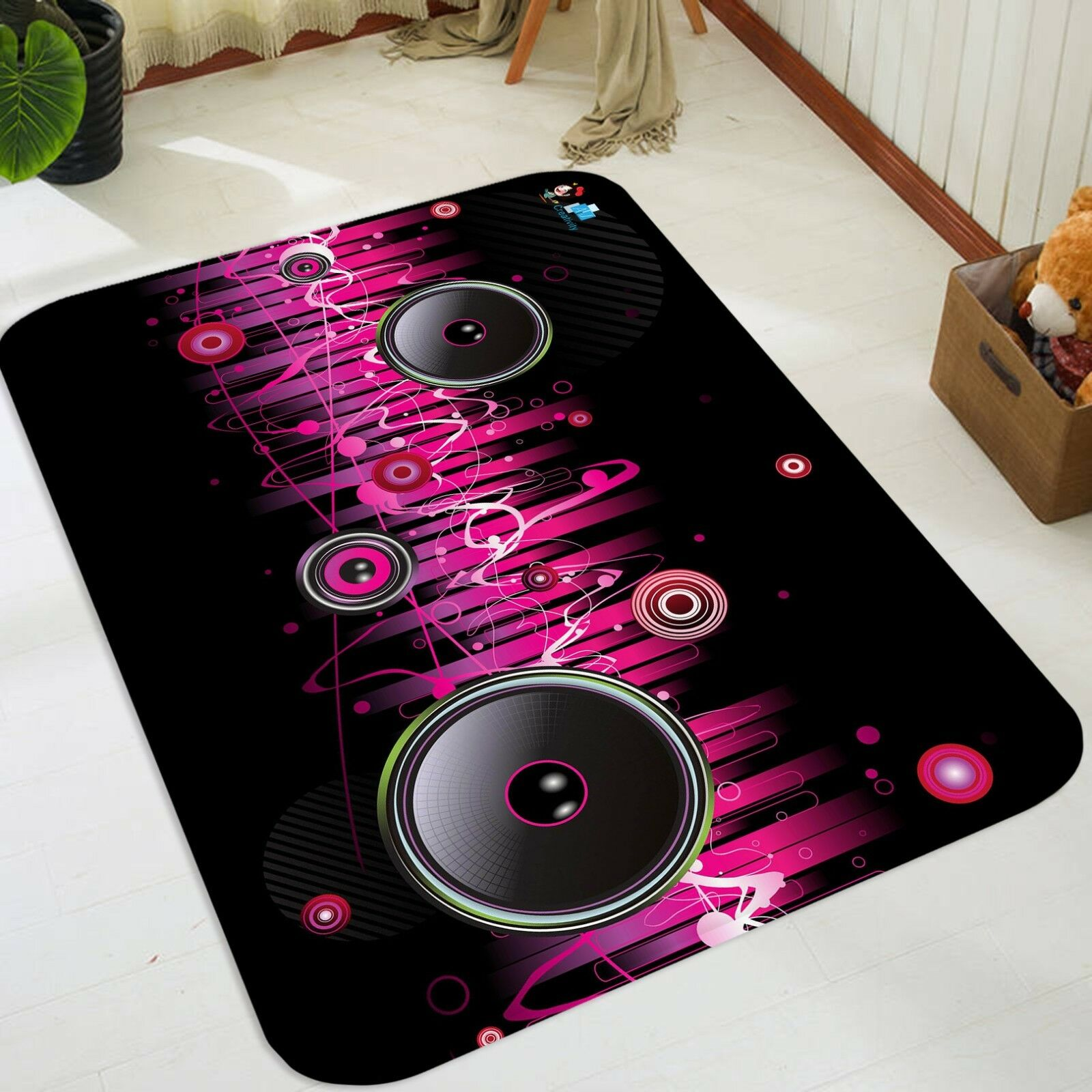 3D Music Audio 014 Non Slip Rug Mat Room Mat Quality Elegant Photo Carpet AU