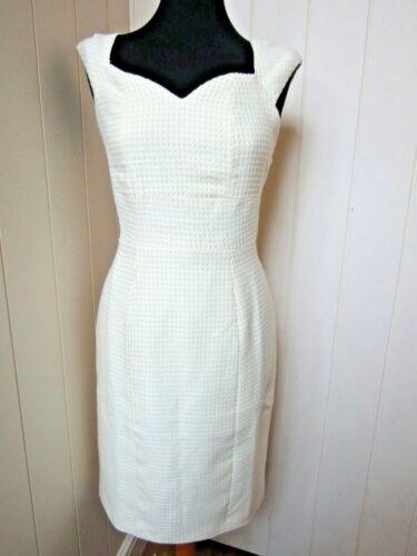 NEW DARLING pale yellow sleeveless sweetheart neckline pencil dress RRP £75