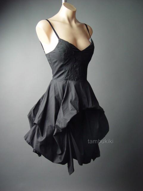 Black Victorian Vampire Goth Cosplay Steampunk Full Bustle Skirt 88 fp Dress L