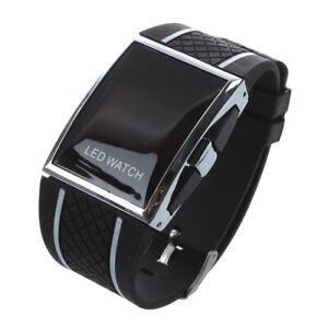 Neu-LED-Uhr-Luxux-und-Fashion-Frauen-Digital-Sport-Armband-Armbanduhr-fuer-Da-1M7