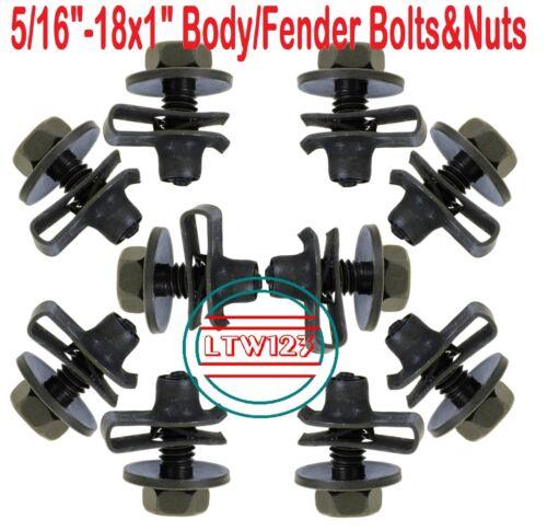 "5//16-18 x 1/"" Hex Head SEM Dog Point Body Bolts /& Extruded U-Nut 10"