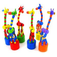 Bambino Divertente In legno Giocattoli Danza In piedi A dondolo Giraffa Regalo