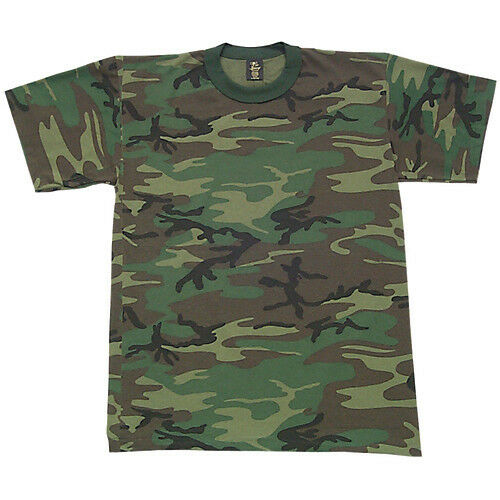t-shirt kids youth woodland camo fox outdoor 64-24 US made