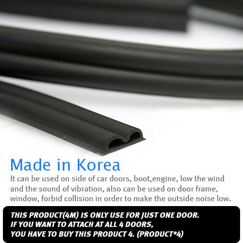 3D Auto Noise Rubber Wind Seal Strip B type For HYUNDAI 2008-2018 i20 Active