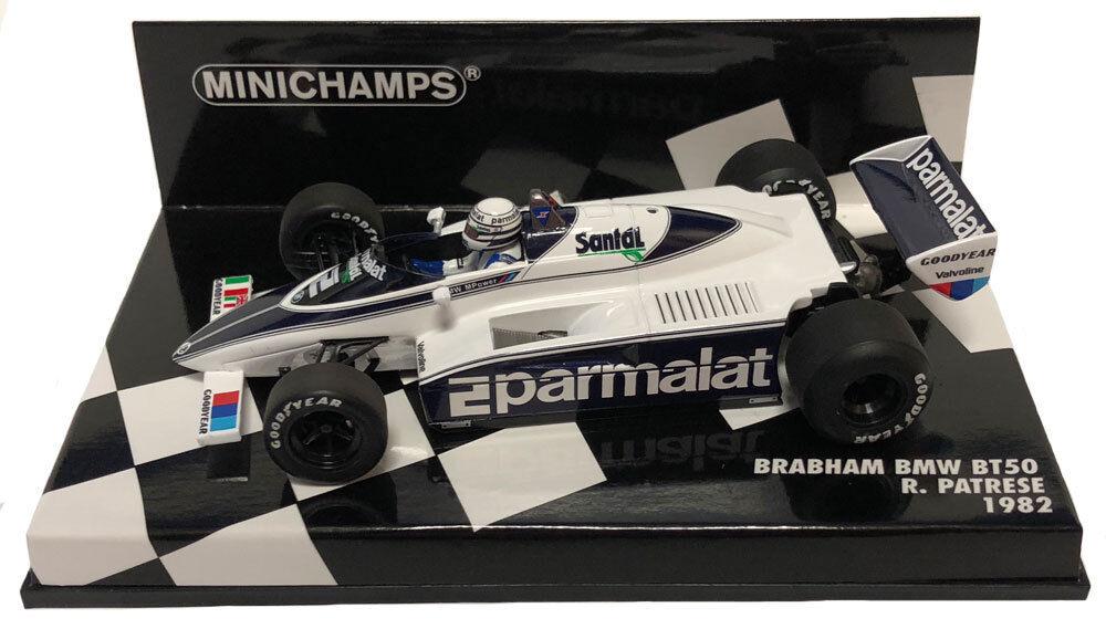 Minichamps Brabham BT50  2 1982-Ricardo Patrese 1 43 Escala