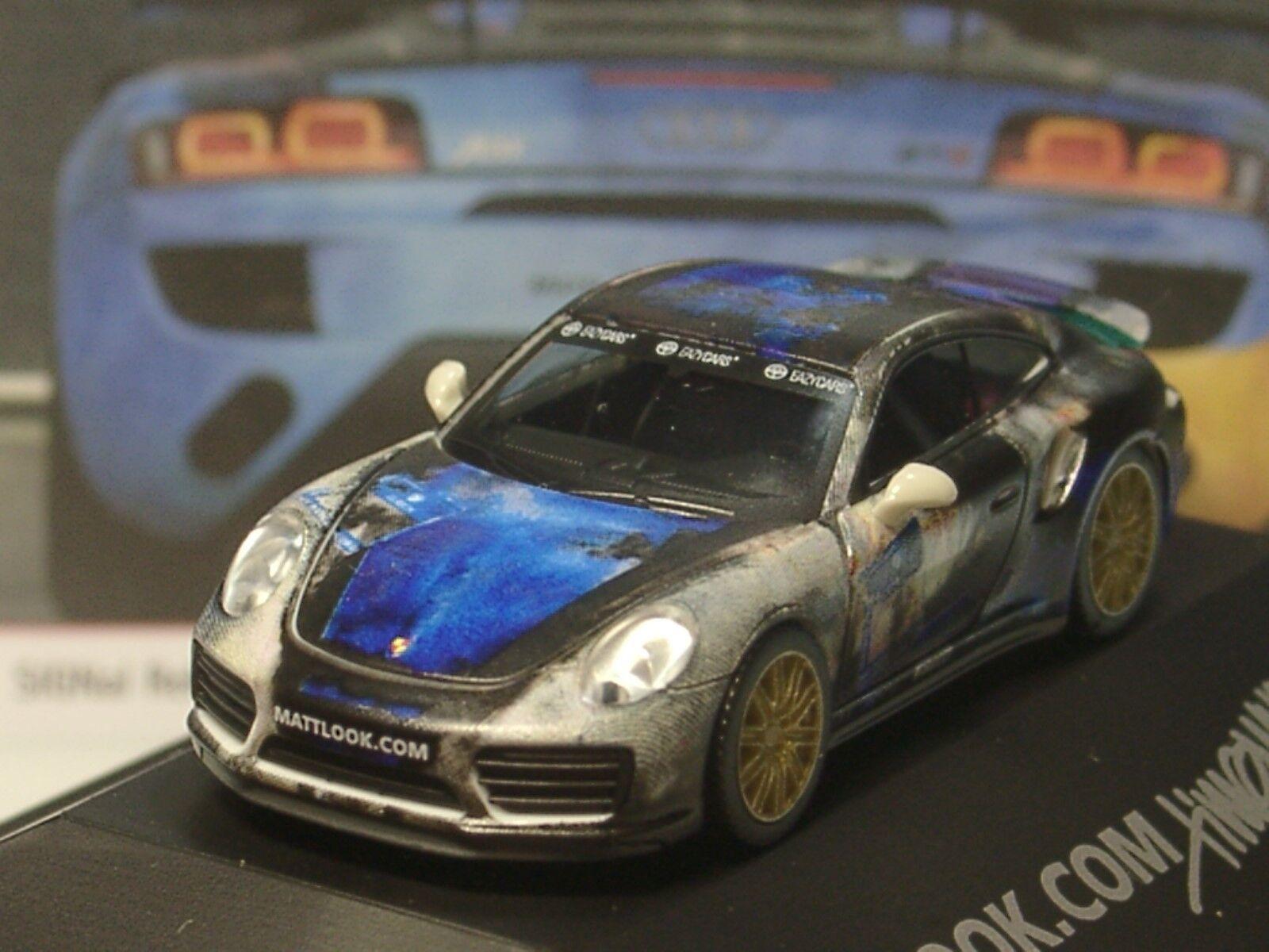 Herpa Porsche 911 Turbo Mattlook Edition 3 - 101981 - 1 87