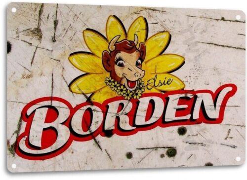 Borden Milk General Store Bar Kitchen Retro Logo Wall Art Decor Metal Tin Sign