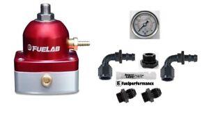 10AN 51501-5 GOLD Fuelab Fuel Pressure Regulator 51501 FPR