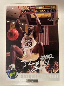 1992 Classic Draft Picks Shaquille O'Neal ROOKIE #1 GEM MINT AUTOGRAPH!!