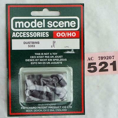 MODELSCENE OO SCALE FIGURES AND ACCESSORIES DUSTBINS REF NO 5083