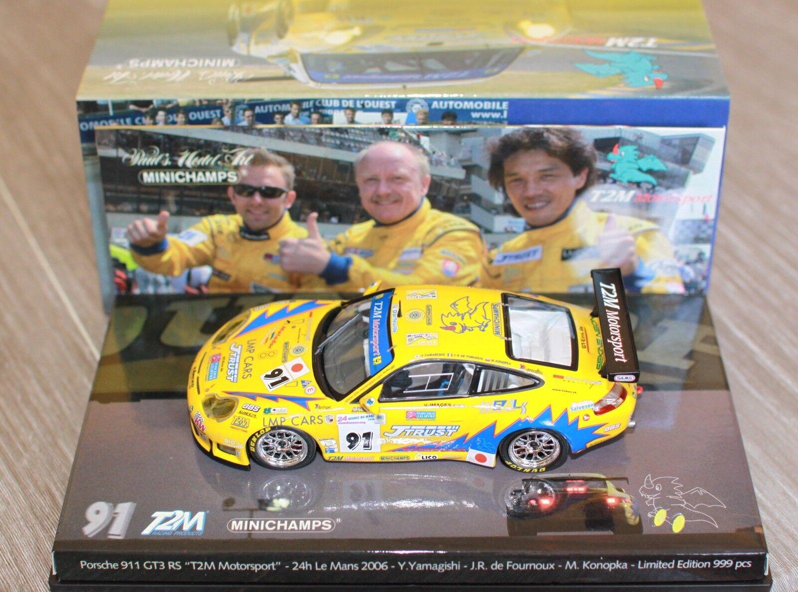 PORSCHE 911 996 GT3 RS  91 24H LE MANS 2006 T2M TEAM MOTORSPORT YAMAGISHI DE FOU