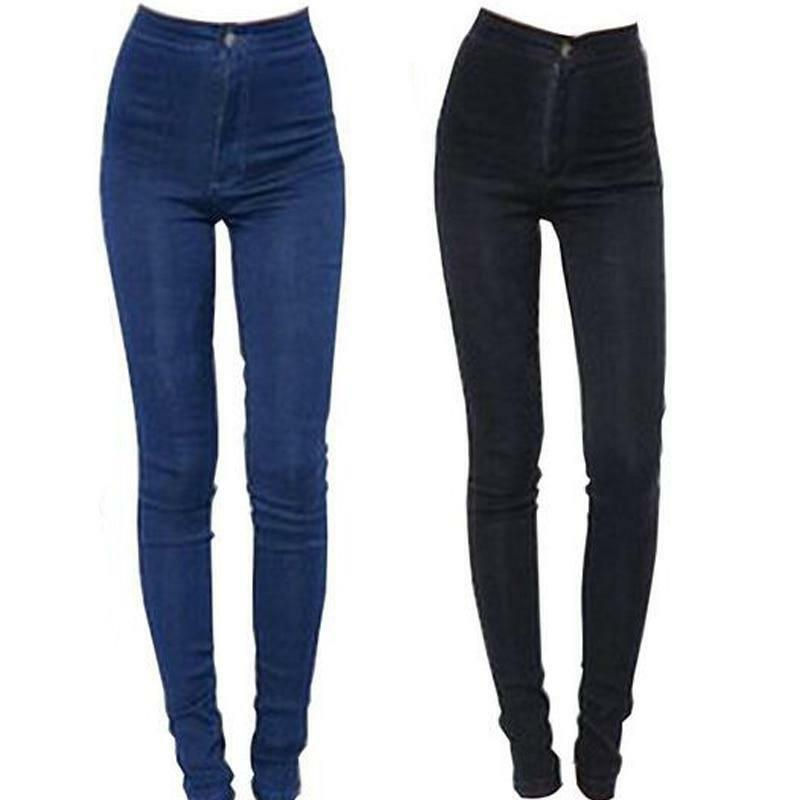 Fashion Jeans Women Pencil Pants High Waist Jeans Slim Elastic Skinny Pants