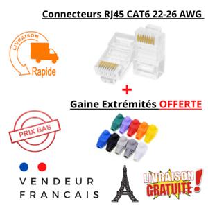 Lot 1 à 20 fiches RJ45 8P8C CAT6 à sertir LAN Prise Connecteurs RJ45 22-26 AWG