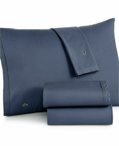 Lacoste Home Lacoste Solid Cotton Percale  Sheet Set