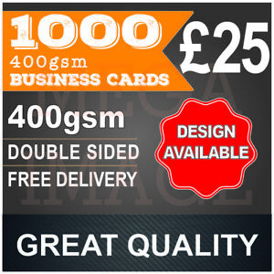 1000 business cards printed full colour double sided 24 48h image is loading 1000 business cards printed full colour double sided reheart Images