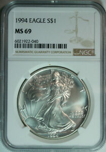 1994-American-Eagle-Dollar-One-Troy-Ounce-999-Pure-Silver-NGC-MS69