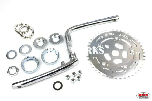 ProBMX Old School Style Crank Disc Chainring Bearing Set 110 BCD Silver /& Silver