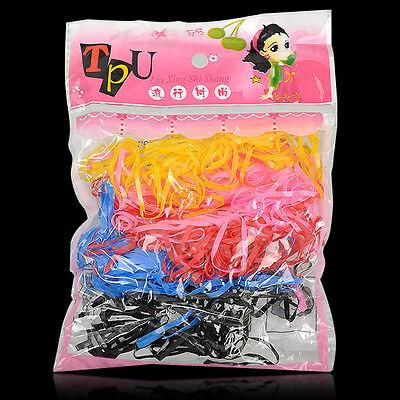 400p/set Rubber Elastic Hairband Rope Kid Ponytail Holder Hair Band Ties Braids