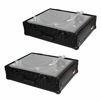 Prox T-tt Black Dj Turntable Ata Flight Road Ready Case Pair Technics, Vestax on sale