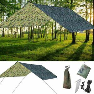 Tarp-Wasserdicht-Sonnensegel-Haengematte-Outdoor-Camping-Zelt-Plane-Zeltstangen