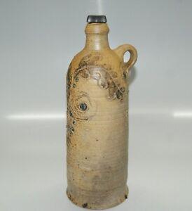 Steinkrug-Keramik-Krug-Wasserflasche-Flasche-signiert