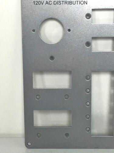 "Chris Craft 120V AC Main Distribution Instrument Gauge Panel 9 1//16/"" x 7 1//2/"""
