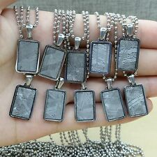 Meteorite pendant iron muonionalusta accessory necklace jewelry mineral gem10pcs