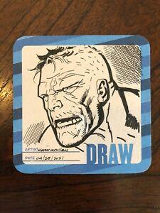 KEVIN NOWLAN original art INCREDIBLE HULK Hero Initiative Drink & Draw coaster