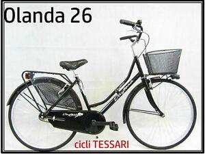 bicicletta-donna-bici-da-passeggio-classica-per-trekking-olanda-holland-26-nera