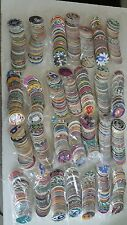 1990 lot of 50 vintage pogs poison, 8 ball, ninja star shaped and more mix