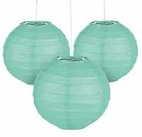 12 Mint Green Paper Chinese Lanterns Centerpieces Wedding Party Decorations