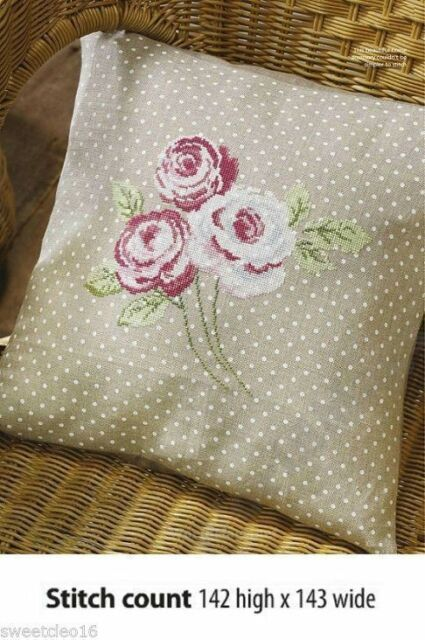 ROSE CUSHION    -     CROSS STITCH PATTERN  ONLY   A8L3S